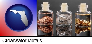 Clearwater, Florida - gold, silver, and copper nuggets